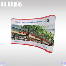 13ft*8ft Custom Size Trade Show Booth High Quality Curved Stretch Tension Fabric Display Banner Stand With Full Color Printing