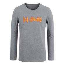 Def Leppard Hard rock band Men Customized Cotton Long Sleeve Tops Tees for Boy Casual Clothing Anime cosplay family T shirt(China)