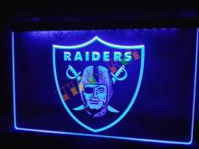 LA143- Oakland Raiders Football Bar Beer   LED Neon Light Sign     home decor shop crafts