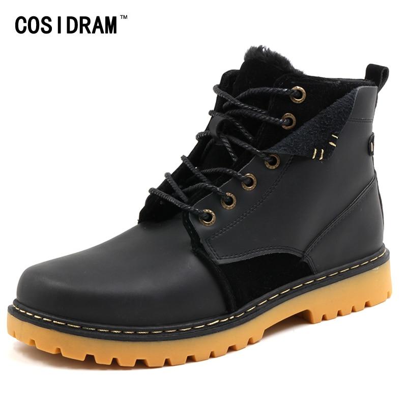 COSIDRAM Plush Warm High Top Winter Shoes 2017 Ank...