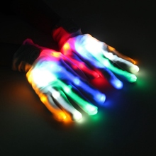 A Pair LED Color Changing Lighting Gloves Flashing Skeleton Hallowamas Stage Props Flash Gloves For Holiday Party Events Shows