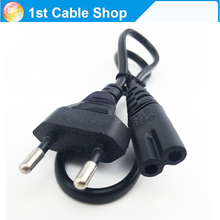 EU Power cable cord  Figure 8 C7 to Euro Eu European 2 pin AC Plug power cable cord for cameras,printers,notebook etc