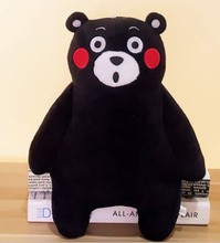 30cm lovely kumamon bear plush toy, black bear stuffed animal doll, kumamon bear pillow cushion(China)