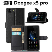 DOOGEE X5 pro pu Leather Case With Card / water / dirt proof  Wallet Flip Case With Protective  For DOOGEE bag and skin handbag