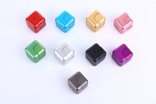 9 Colours Hot Sale Metal Fidget Cube Spinner Magic Cube EDC Finger Fidget Toy Gift Present Stress Anti-stress Finger Toy