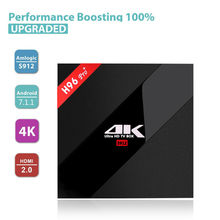 H96 Pro plus Android 7.1 TV Box 1000M LAN Bluetooth4.1 Dual band wifi Amlogic S912 Octa core 3G 32G H96 pro smart Android tv box