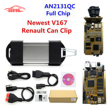 Best Quality Full Chip CYPRESS AN2135SC Renault Can Clip V169 OBD2 Diagnostic Interface Multi-Language Can Clip For Renault