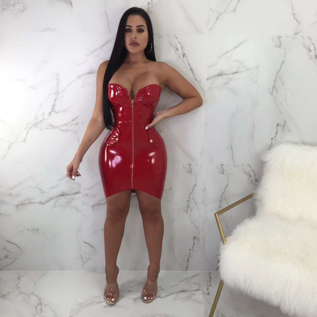 0654b7fad33 Detail Feedback Questions about 2018 Sexy Women PU Leather Dress ...
