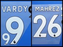 New MAHREZ VARDY Morgan Drinkwater football number font print, Hot stamping Soccer patches badges