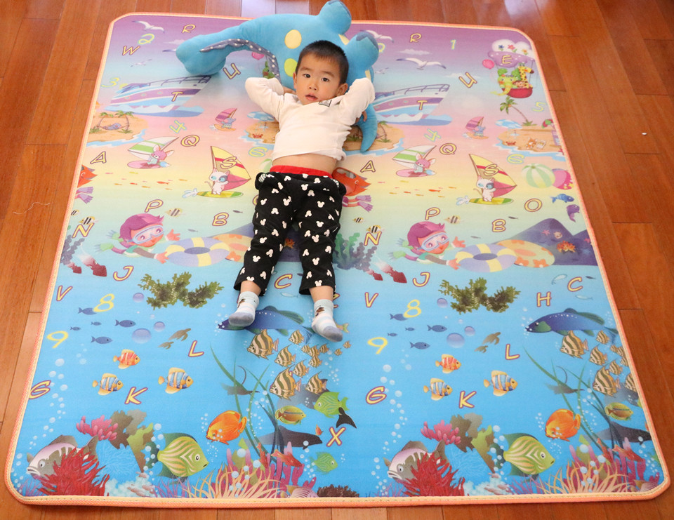10 mm Thick Double Sides Children Play Mat Waterproof Kids Beach Picnic Mat Soft Eva Foam Carpet Rug Baby Crawling Mat Baby Toy 53