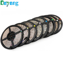 5M/Roll RGB Warm Cool White Red Green Blue Yellow Flexible 3528 Waterproof LED Strip Lighs 300LEDs 60LEDs/M bande LED diode tape