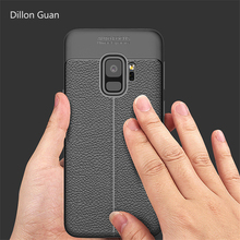 New Leather stripe Skin Cover design phone case for samsung Galaxy s9 case Protect coque cover for Samsung Galaxy s9 plus case(China)