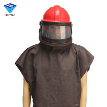 Abrasive Shot Blast Cleaning Helmet Sand Blasting Protective Clothing With Pipe Safety Clothes Genuine BINYEAE(China)