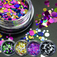 1g Thin Paillette Mixed Mini Round Nail Art Glitter Decoration Shining Manicure Nail Tip Design DIY Gel Polish Tools LAP17-24(China)