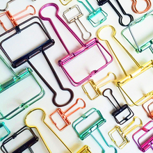 JIANWU Metal long tail clips gold paper clips Color clips mini clips Multifunctional metal bookmark(China)