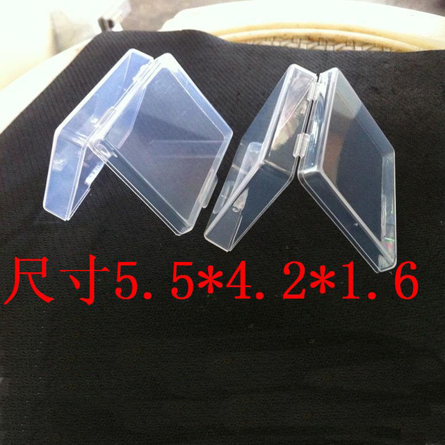 Free shipping Small Parts Transparent Collapsible Plastic Boxes Small Jewelry Storage Packaging Box(China (Mainland))
