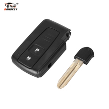 DANDKEY Smart 2 BUTTON REMOTE KEY CASE SHELL FOR TOYOTA PRIUS COROLLA VERSO TOY43 BLADE Free Shipping(China)