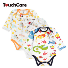 Buy Infant Cute Cartoon Animal Baby Boy Girl Rompers Newborn Soft Cotton Colorful Printed Long Sleeve Toddler Jumpsuit Kids Clothes for $4.03 in AliExpress store