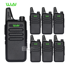 6pc Professional Walkie Talkie WLN KD-C1 UHF Long Range 2 Way Radios Handheld Mobile Ham CB Security Radios Communicator Battery(China)