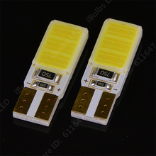 10Pcs Best Price T10 194 168 501 W5W COB Canbus Error Free High Power Car Auto Light Source LED Bulb Backup Lamp White DC12V