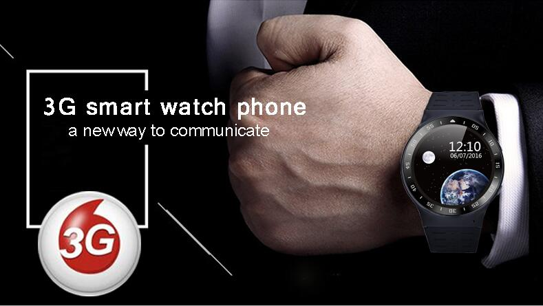 3G Smart Watch For Man Android 5.1 2.0MP Cam GPS WiFi Pedometer Heart Rate 3G Smartwatch X3Plus X5 Black Silver Color