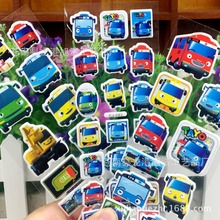 30 sheets/lot the little tayo bus 3D carton bubble sticker for kids birthday present, party favor gifts