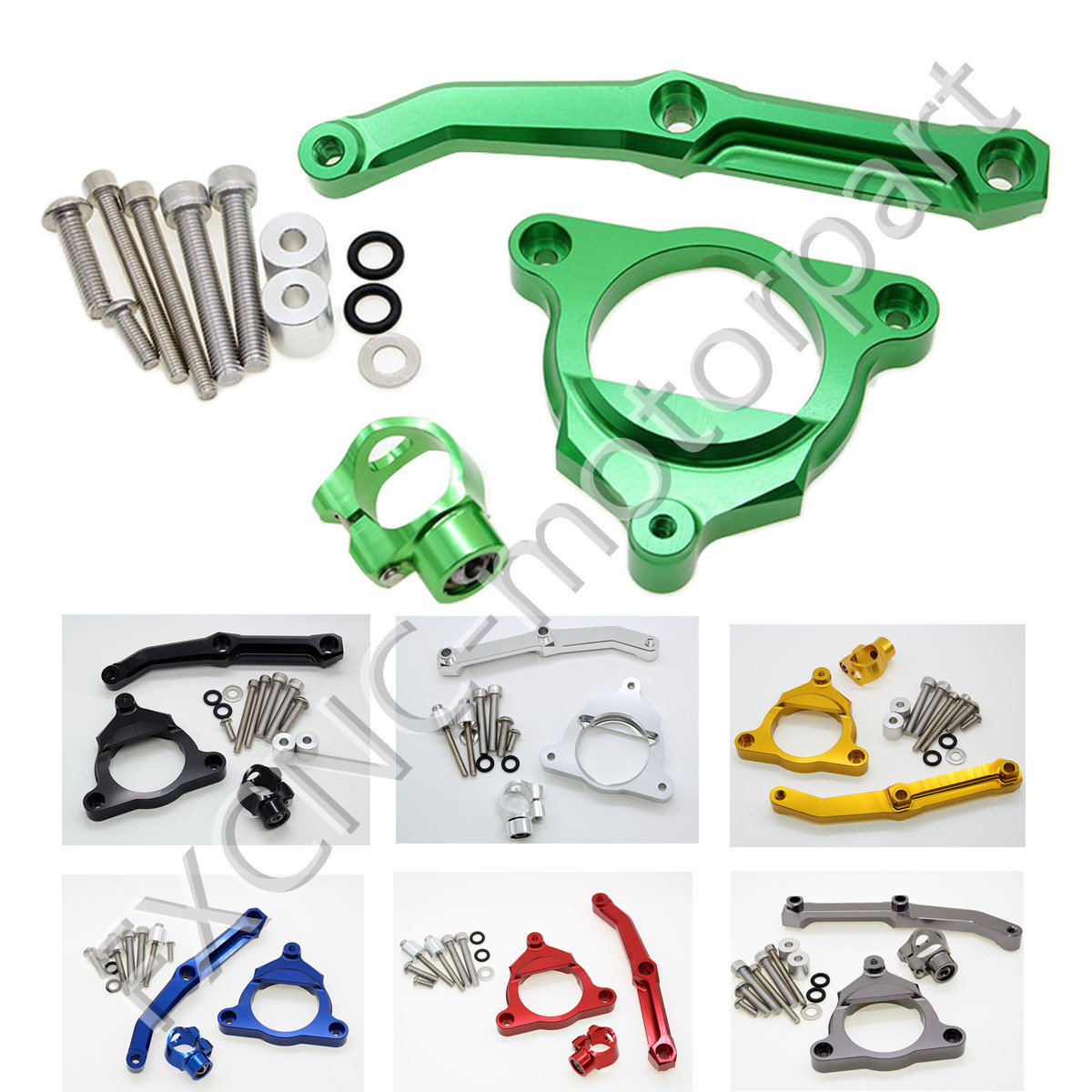 FXCNC Aluminum Steering Damper Stabilizer Bracket Mounting Support Kits 6 Colors Fit For KAWASAKI Z800 2013-2015 2013 2014 2015<br>