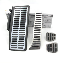 Stainless steel pedal manual transmission includes rest pedal brake pedal throttle clutch pedal PASSAT B5 B7 CC Superb.