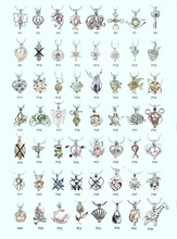 18kgp pearl cage pendants, fashion lovely wish pearl crystal gem beads locket charm mountings DIY jewelry wholesale 100pcs/lot