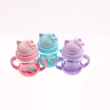 Momy and Angel 4colors Kids bottle Straw Cup with Handle Child Bottle Sippy Cups Children Straw Baby Bottle Cup Children Gift