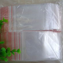 200 Pcs ziplock storage bags transparent plastic zipper bags Packaging bag For Small Parts (5*7cm)(China)