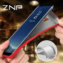 ZNP Luxury Back Soft Silicon Full Cover Phone Case For Samsung Galaxy S8 Plus S7 S6 Edge A3 A5 A7 2016 2017 J3 J5 J7 Note 8 Case(China)