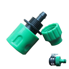 "Garden Irrigation Garden Tools Fast Coupling Adapter Drip Tape For Irrigation Hose Connector With 1/4 ""barbed Connector"