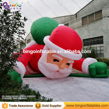 5m High big inflatable christmas Santa Claus climbing wall decoration 16ft high China factory direct sale festival toy(China)