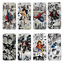 Cartoons Marvel Comics Batman Spider Man Wonder woman Captain America Soft Phone Case For iPhone 7 7Plus 6 6S 6Plus 5 5S SE 5C