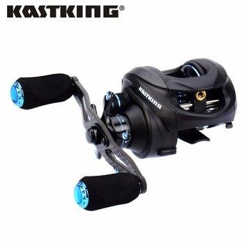 Kastking assassin nuevo 2016 de fibra de carbono de pesca del bastidor de cebo carrete 12bb 6.3: 1 163g baitcasting señuelo carrete de la pesca carrete