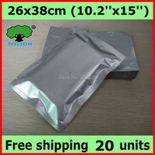 10.2''X 15''   (26 X 38 cm) 1 gallon 4 mil aluminum foil bag mylar bag for long term food storage