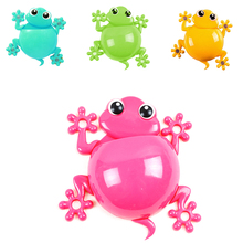 Creative Cartoon Sucker Gecko Toothbrush  Holder Toothpaste Container Wall Suction Hook Tooth Brush Holder Bath Accessories