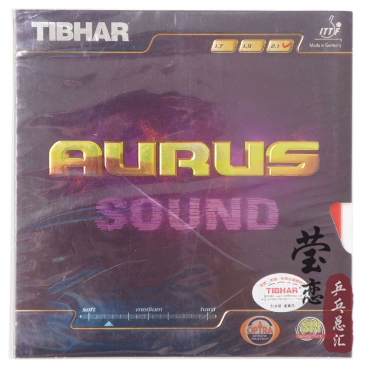 Original Tibhar Aurus Sound pimples in table tennis rubber table tennis rackets racquet sports fast attack loop made in germany<br>