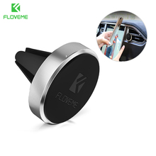 FLOVEME Universal Car Phone Holder Magnetic Air Vent Mount Magnet Smartphone Dock Mobile Phone Holder For iPhone Samsung Xiaomi(China)