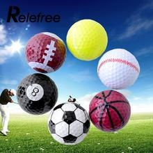 Relefree 6 PCs Novelty Assorted Creative Champion Sports Golf Balls Rubber(China)