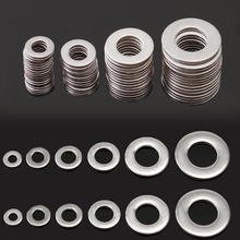 105pcs 304 Stainless Steel Washers Metric Flat Gasket Kit M3 M4 M5 M6 M8 M10 For Hardware Accessories
