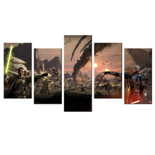 5 Piece Wall Decor Star Wars HD Printed Picture Poster Wall Art Canvas Contemporary Movie Poster Painting Wall Pictures Artwork(China)