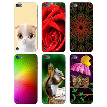 Case For Apple iPod Touch 6 Cover Beautiful Design Flower Plants Original Hard Plastic Printed Cute Cat Owl Animal Phone Case