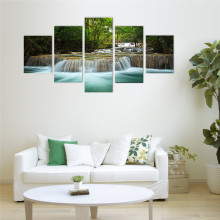 5 Panel Waterfall Painting Home Living Room Decoration Canvas Print Painting Large Canvas Art Unframed Combined Oil Picture