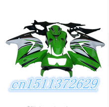 Dor-green black white fairings Kawasaki Ninja 250R 2008 2009 2012 EX250 08-12 ZX 250R