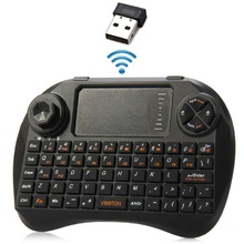 Original Viboton Mini 2.4GHz Wireless Keyboard with Touchpad 3 LED Indicator for HTPC / PC / PS3/TV Box/Laptop