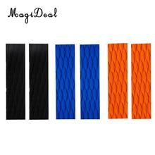 MagiDeal Long Board 2Pcs Non-Slip EVA Surfboard Traction Pad Bar Grip Skimboard SUP Surfing Surf Body Board Shortboard Accessory