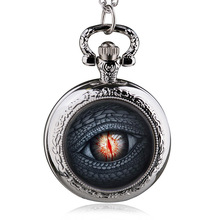 Antique Dragon Eye Song of Ice and Fire The Game of Thrones Design Quartz Pocket Watch Necklace Best Gift(China)