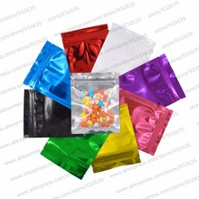 10.2x12.7 cm (4''x5'') Clear Foil one side color zip lock bags  pouches 100 PCS MOQ one color for food storage Free shipping
